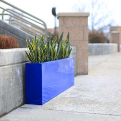 "Contemporary Planter Box - Fiberglass - 54""L x 8""W x 18""H - Camoux by Jay Scotts"