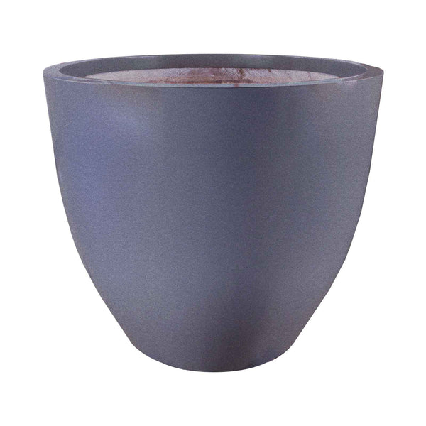 Wannsee extra large round fiberglass tapered planter pot Extra large pots for plants
