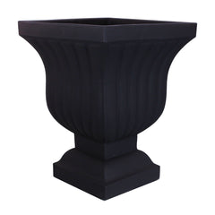 "Square Urn Planter - Plastic - 22"" - Leyla by Crescent Garden"
