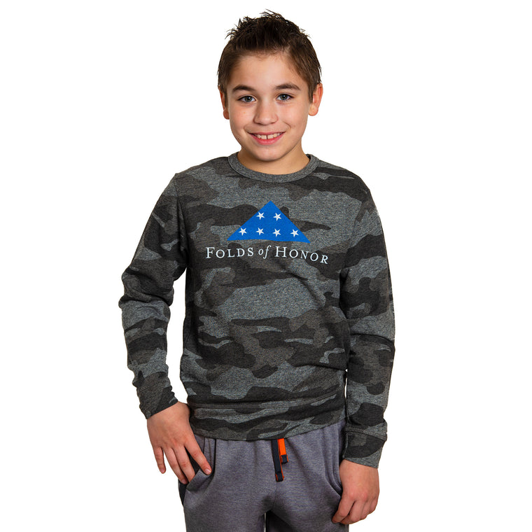 Youth Camo Crew Neck Sweat Shirt