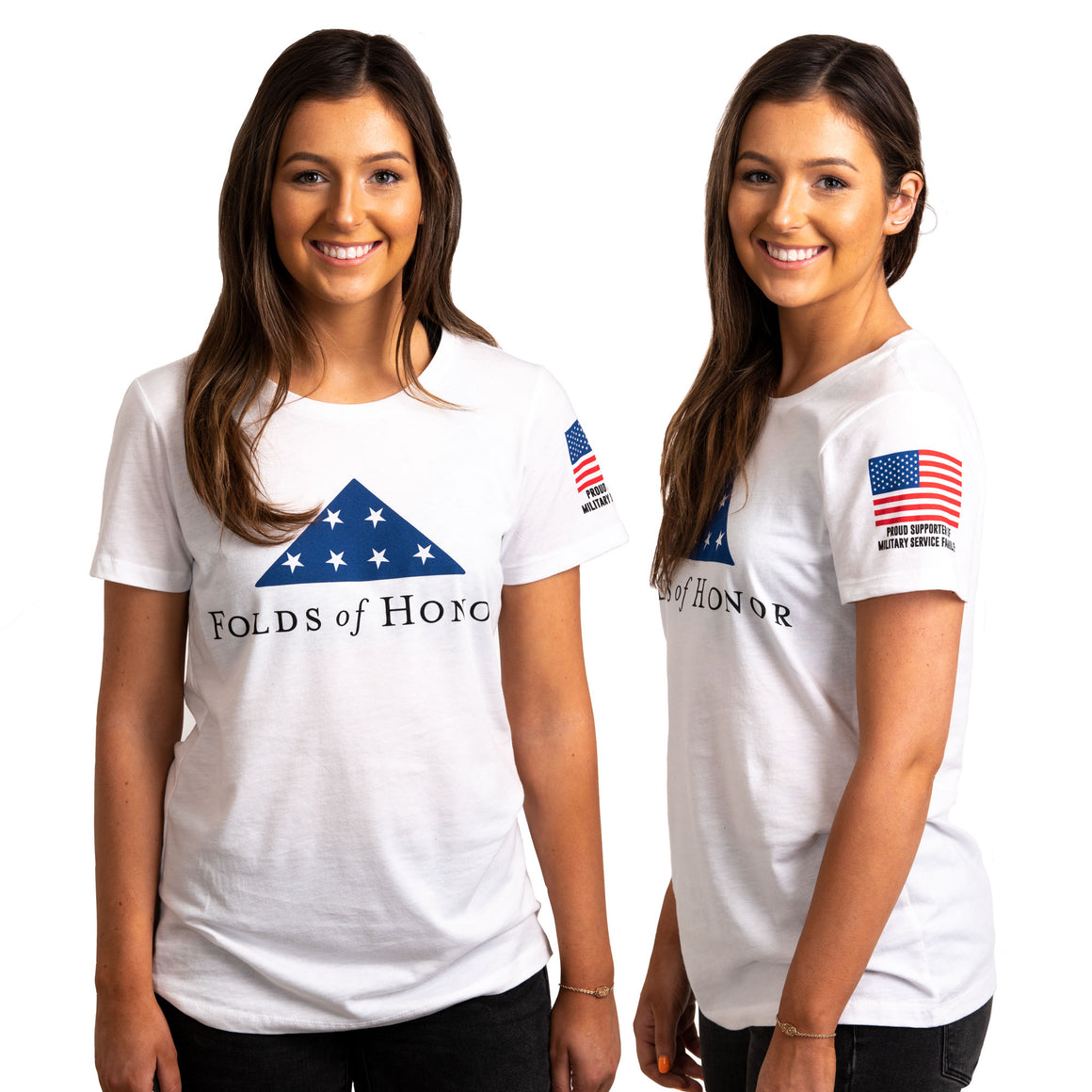 Women's Folds of Honor T-shirt - White