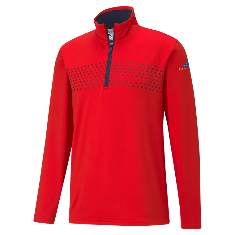 Volition America Tried & True 1/4 Zip Pullover - Red