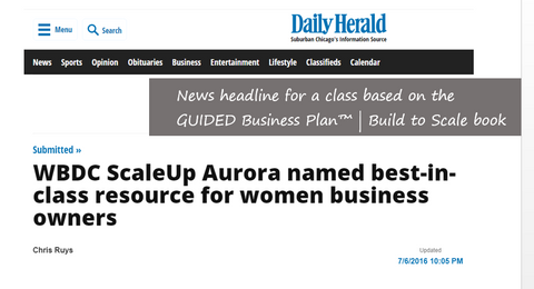 WBDC's Scale Up headline
