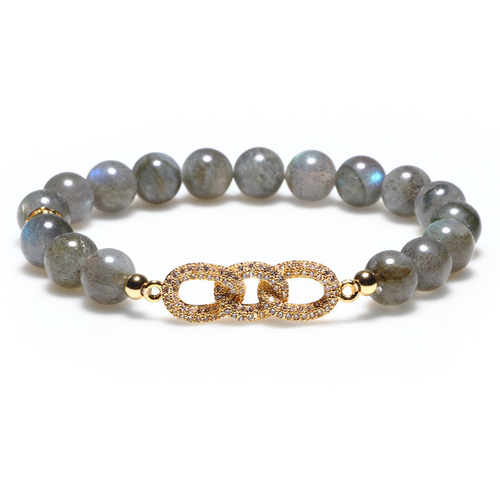 Natural Gray Moonstone Positivity Healing Bracelet (Limited Edition)