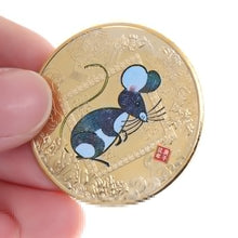 Load image into Gallery viewer, 2020 Year of the Rat Feng Shui Luck Attractor Coin