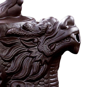 Dragon & Phoenix Purple Clay Tea Pot