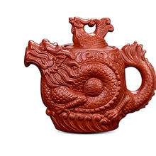 Load image into Gallery viewer, Dragon & Phoenix Purple Clay Tea Pot