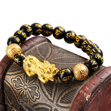 Load image into Gallery viewer, Feng Shui Black Obsidian Bracelet
