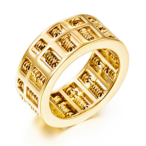 Abacus Feng Shui Wealth Gold Ring
