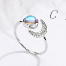 Load image into Gallery viewer, Natural Healing Sun And Moon Moonstone Ring