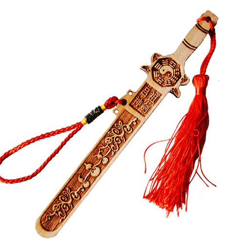 8 Forces of Nature Wood Carving Sword
