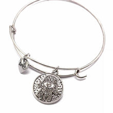 Load image into Gallery viewer, Bangles - Hamsa Love Crystal Bangle