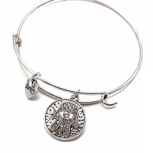 Bangles - Hamsa Love Crystal Bangle