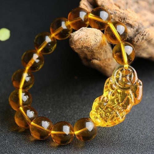 Bracelet - Limited Edition Citrine Lucky Pixiu Wealth Bracelet (50% Off)