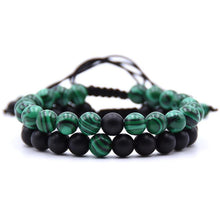 Load image into Gallery viewer, Bracelet - Malachite & Matte Onyx Healing Bracelet