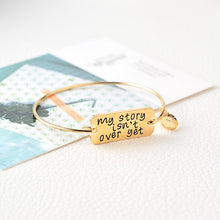 "Load image into Gallery viewer, Bracelet - ""My Story Isn't Over Yet"" Inspirational Wire Bangle Bracelet"