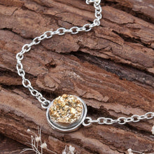 Load image into Gallery viewer, Bracelet - Natural Crystal Druzy Bracelet