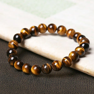 Bracelet - Natural Yellow Tiger Eye Stone Bracelet