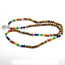 Load image into Gallery viewer, Bracelet - Tree Of Life 7 Chakra Tiger Eye Bracelet