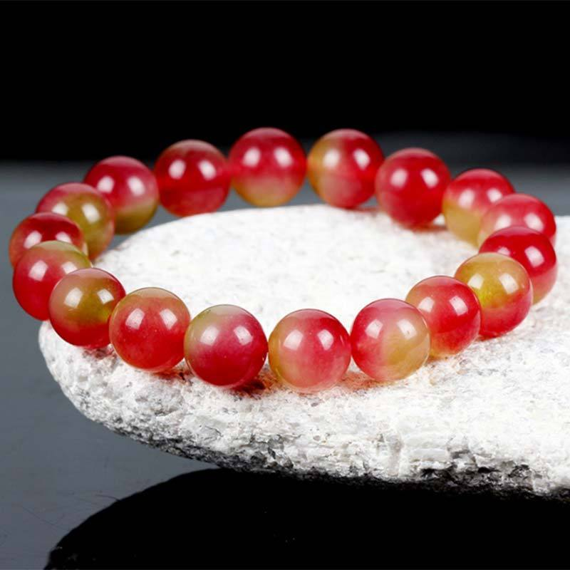 Bracelet - Watermelon Tourmaline Cleansing Crystal Bracelet