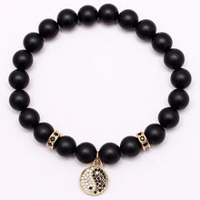 Load image into Gallery viewer, Bracelet - Yin Yang Onyx Beads Bracelet