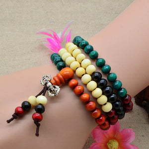 Bracelets - 108 Colorful Sandalwood Meditation Prayer Bracelet