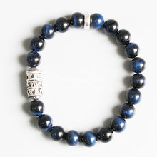 Load image into Gallery viewer, Bracelets - Blue Tiger Eye Protection Bracelet With Tibetan Mantra Totem