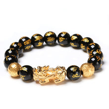 Load image into Gallery viewer, Bracelets - Feng Shui Black Obsidian Wealth Bracelet