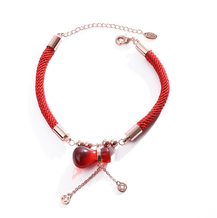 Bracelets - Lucky Red Money Bag Bracelet