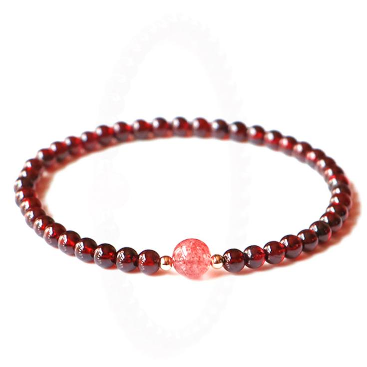 Load image into Gallery viewer, Bracelets - Natural Garnet Lucky Charm Healing Bracelet