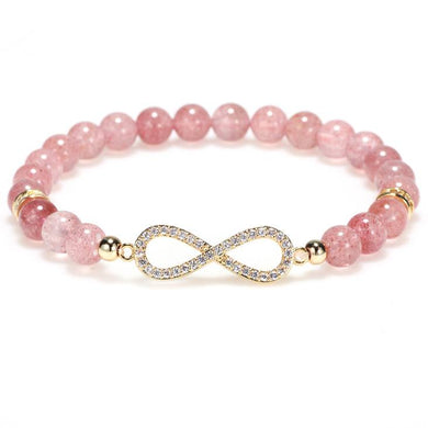 Bracelets - Natural Strawberry Quartz Positivity Healing Bracelet (Limited Edition)