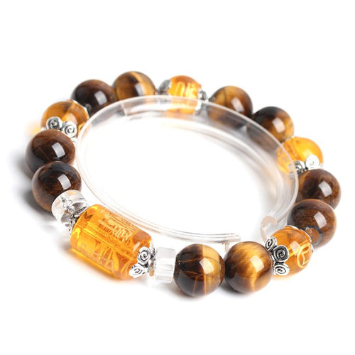 Bracelets - Natural Tigers Eye Fortune Lucky Bracelet