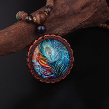 Load image into Gallery viewer, Bracelets - Peacock Feather Good Luck & Energy Necklace