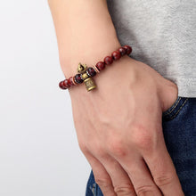 Load image into Gallery viewer, Bracelets - Red Sanders Wood Mala Mantra Healing Bracelet