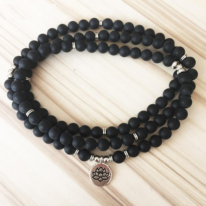 Bracelets - Strength And Protection Black Onyx Mala Bracelet