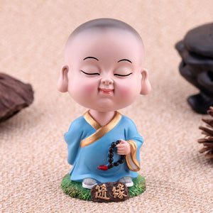 Decor - Lucky Shaking Head Small Monk Buddha Ornaments