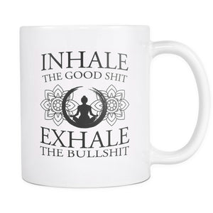 Drinkware - Inhale Exhale White Mug