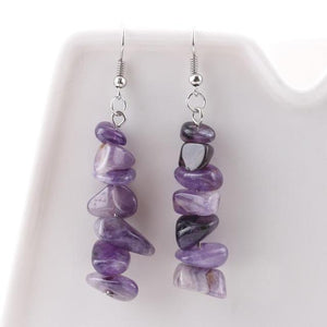 Earrings - Healing Stone Chips Drop Earrings