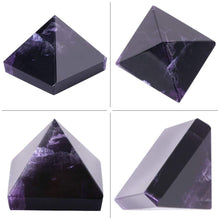 Load image into Gallery viewer, Home Decor - Amethyst Pyramid Crystal Feng Shui Ornament