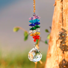 Load image into Gallery viewer, Home Decor - Chakra Rainbow Crystal Hanging Suncatcher