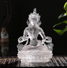 Load image into Gallery viewer, Home Decor - Crystal Glass Liuli Vajrasattva Buddha Statue