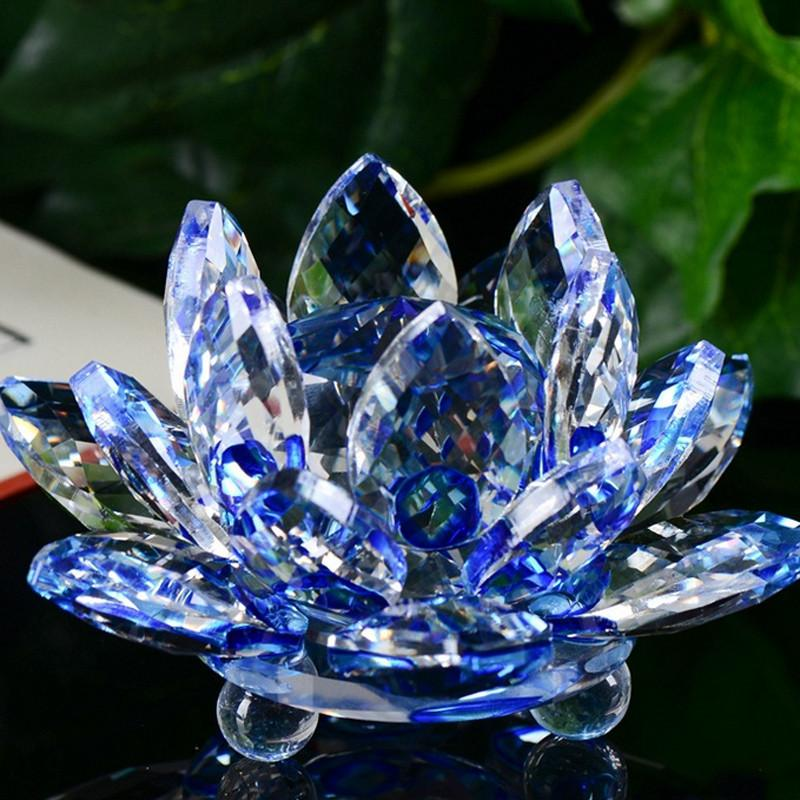 Home Decor - Crystal Lotus Flower Feng Shui Ornament
