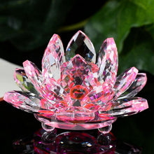 Load image into Gallery viewer, Home Decor - Crystal Lotus Flower Feng Shui Ornament