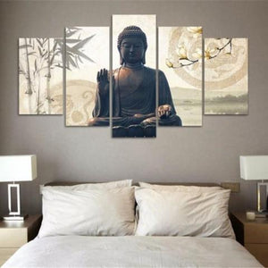 Home Decor - Waterproof HD Printed Buddha Canvas Painting