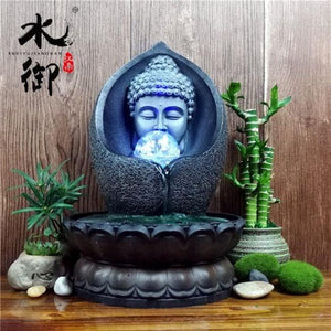 Home - Lucky Buddha Water Fountain Figurine