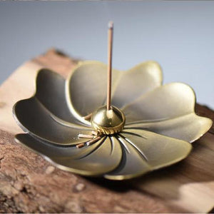 Incense Burner - Buddha Tea Lotus Incense Stick Holder Plate