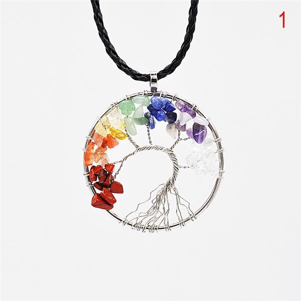 Jewelries And Accessories - Chakra Stone Tree Of Life Pendant