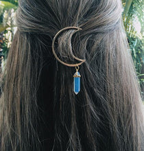 Load image into Gallery viewer, Jewelries And Accessories - Natural Crystal Moon Hair Clip