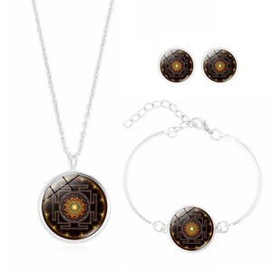 Jewelries And Accessories - Sacred Buddhist Sri Yantra Jewelry Set