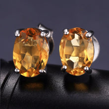 Load image into Gallery viewer, Jewelries And Accessories - Sterling Silver Citrine Wealth Magnet Earrings